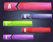 抽象 abc 页横幅矢量背景设计 — 图库矢量图片