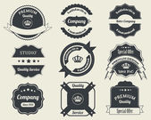 Retro Labels Design Vintage Sticker — Vettoriale Stock