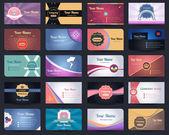 20 premium kartvizit tasarım vektör set - 03 — Stok Vektör