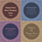 Vintage Frame Decoration Elements Vector Design — Stock Vector