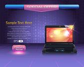 Banner Template Vector Design — Stock Vector