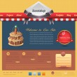 ストックベクタ: Sweet Shop Style Website design vector elements