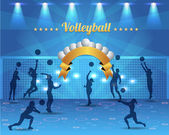 Abstrato voleibol vector design — Vetor de Stock
