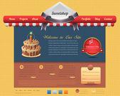 Sweet Shop Style Website design vector elements — Stock Vector