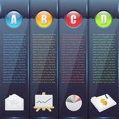Vector Background Number Options Banner & Card — Vecteur
