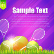 Tennis Theme Vector Design — Stock vektor