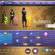 Business Website design vector elements — Imagens vectoriais em stock