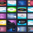 图库矢量图片: 20 Premium Business Card Design Vector Set - 05