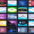 20 Premium Business Card Design Vector Set - 05 — Stock Vector