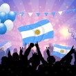 National Celebration Vector Argentina - Vettoriali Stock 