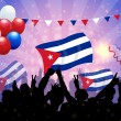 Stock Vector: National Celebration Vector Cuba