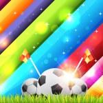 Football Background Template Vector Design — Stock Vector #12753398