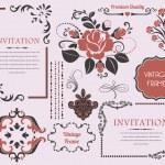 Decoration Elements Vector Design — Stock Vector