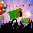 National Celebration Vector Zambia - Stockvektor