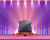 Shield Ribbon Spot Light Theme Design — Stock Vector