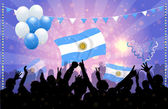 National Celebration Vector Argentina — Stock Vector