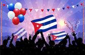 National Celebration Vector Cuba — Stock Vector