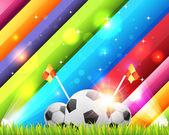 Futbol arka plan şablonu vektör tasarımı — Stok Vektör