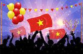 National Celebration Vector National Celebration Vector Vietnam — Stock Vector