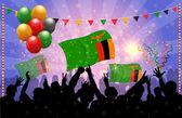 National Celebration Vector Zambia — Stock Vector