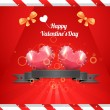 Valentine's Day background vector — Stock Vector