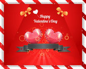 Valentine's Day background vector — Stockvector