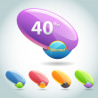 Set of colorful vector Icon Discount — Stock Vector #12789501