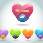 Set of colorful vector Icon Heart Ball — Stock Vector #12780202
