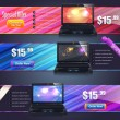 Banner Template Vector Design — Stockvectorbeeld