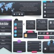 Web Elements Vector Design Set — Image vectorielle