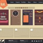 Vintage Style Website design vector elements — Stock Vector