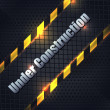 Under Construction Metallic Background Vector Design — Stockvektor