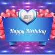Happy Birthday background vector - Stock Vector