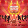 American Football Vector Design — Stock Vector