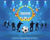 Diseño del vector escudo futbol — Vector de stock