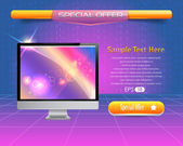 Banner Web Template Vector Design — Stock Vector