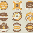 Retro Labels Design Vintage Sticker - Stock Vector