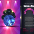 Party Brochure Flyer Vector Template — Stok Vektör #12813653
