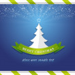 Merry Christmas Tree Vector Card — Stock Vector