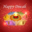 Diwali festival vector design — Stock Vector