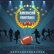 American Football wreath Vector Design - Stok Vektör