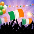 Stock Vector: National Celebration Vector ireland
