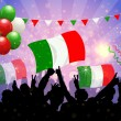 National Celebration Vector Italy — Stock Vector
