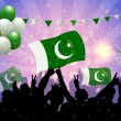Stock Vector: National Celebration Vector Pakistan