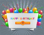 Vector illustration of happy birthday card design — Vetor de Stock