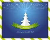 Merry christmas tree vektör kartı — Stok Vektör