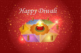 Diwali festivali vektör tasarımı — Stok Vektör