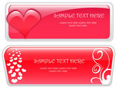 Valentine Day banner vector — Stock Vector