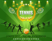 Tennis wreath Vector Design — Stok Vektör