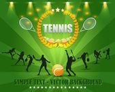 テニスの花輪のベクトルのデザイン — ストックベクタ